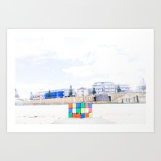 The Cube at Maroubra Beach Art Print