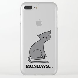 Monday Cat Clear iPhone Case