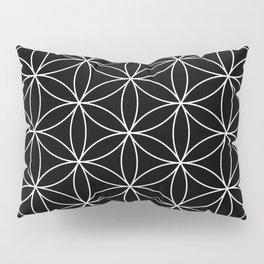 Flower of Life Black & White Pillow Sham