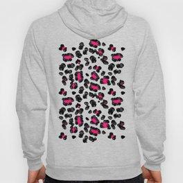 Leopard Pugs in Pink Hoody