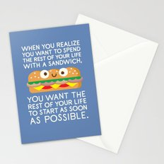 When Harry Met Sandwich Stationery Cards