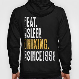 Mountain Climber Eat Sleep Hiking Since 1998 Gift Hoody