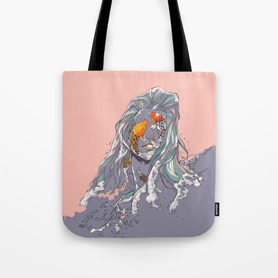 Koi and Raised Tote Bag