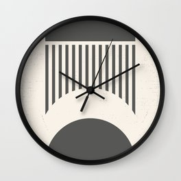 Mid Century Modern Geometry 02 Wall Clock
