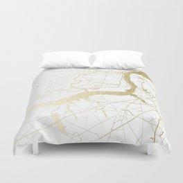 Philidelphia - White and Gold Duvet Cover