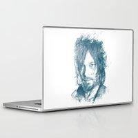 daryl dixon Laptop & iPad Skins featuring DARYL DIXON by Chadlonius