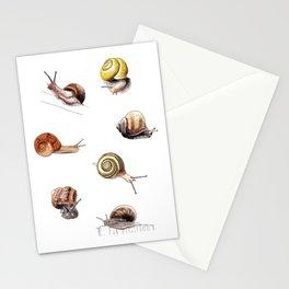 Snail party Stationery Cards