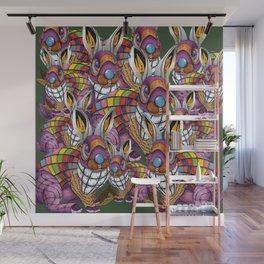 Steampunk Bunny Rabbit Wall Mural