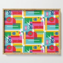 Craft Collage Serving Tray