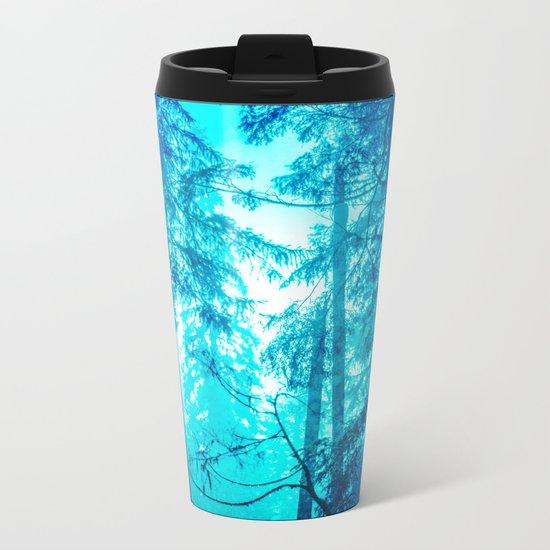Blue Frost Woods Metal Travel Mug