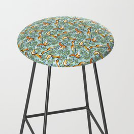 Oak Tree with Squirrels in Summer Bar Stool