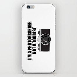 Photographer Tourist Funny iPhone Skin