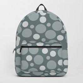 Dotty Green Grey Backpack