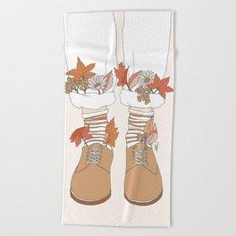 Autumn Walks Beach Towel