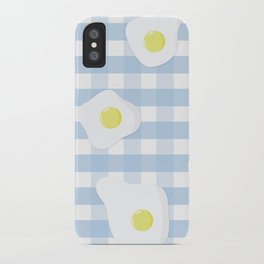 Sunny Side Up + Gingham iPhone Case