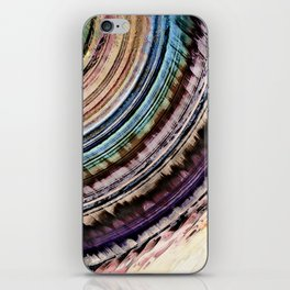 Abstract Textural Rings iPhone Skin