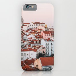 Sunset in Alfama, the Old Town of Lisbon, Portugal | Travel Photography | iPhone Case
