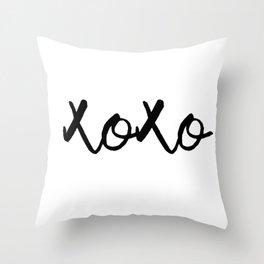 XOXO monochrome Throw Pillow