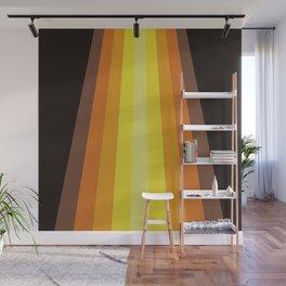 Retro Warm Tone 70's Stripes Wall Mural