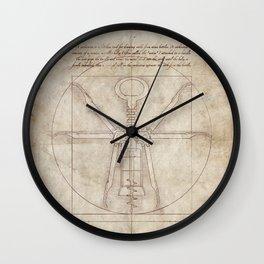 Da Vinci's Real Screw Invention Wall Clock