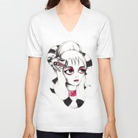 lydia martin V-neck T-shirts featuring Lydia Deetz by Laura Pastor