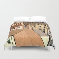 spain Duvet Covers featuring Spain Landscape by Liza Q.