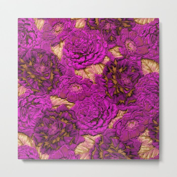 satin and lace flowers Metal Print