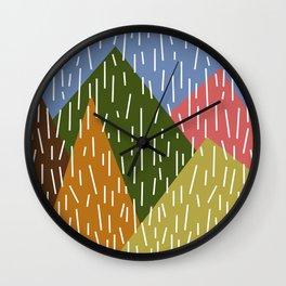 Raining Mountains Wall Clock