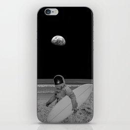 Moon surfer iPhone Skin