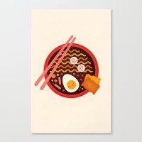 ramen Canvas Prints featuring Ramen by pandreaa