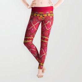N212 - Pink Heritage Berber Boho Gypsy Traditional Moroccan Style Leggings