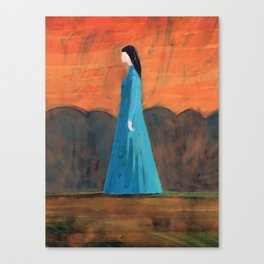 Standing in the Garden Canvas Print