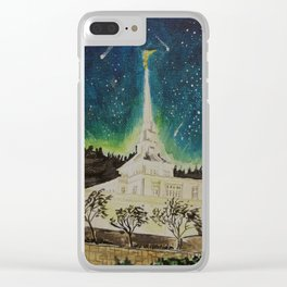 Billings Montana LDS Temple Clear iPhone Case