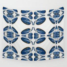 Snowblue Clock Pattern 1 Wall Tapestry