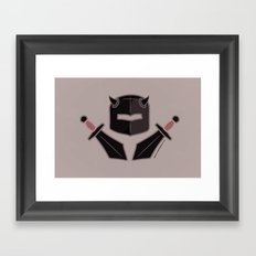 Exile From Ullathorpe - Helmet and Swords Dark Framed Art Print