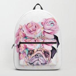 Flower Pug Backpack