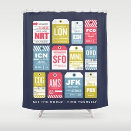 See the World, Find Yourself Shower Curtain