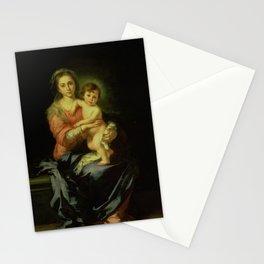 Madonna and Child by Bartolomé Estebán Murillo Stationery Cards