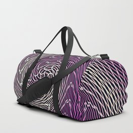 graphic abstract lines wave art Duffle Bag