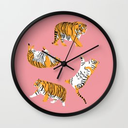 Chubby Tigers Wall Clock