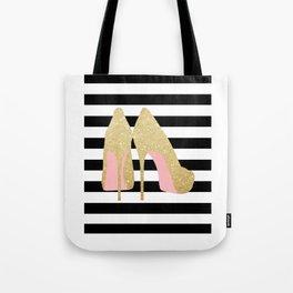 High Heels,Glitter Print,Gold Print,Wall Art,Home Decor,Fashion Illustration,Fashion Print,Gift Idea Tote Bag