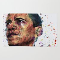 obama Area & Throw Rugs featuring OBAMA by benjamin james