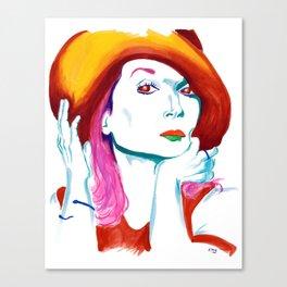 Meryl Streep Rainbow Portrait Canvas Print