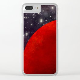 Mars In The Stars Clear iPhone Case