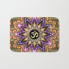 OM SHANTI Magic Lights Mandala Bath Mat