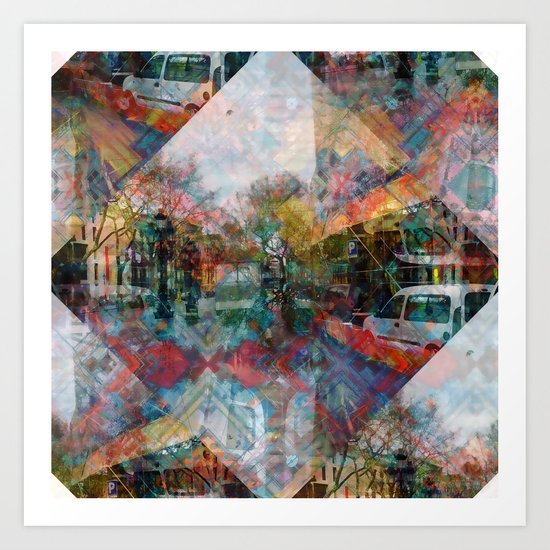 Monday 1 April 2013: or acknowledge the comfort in retracing your steps Art Print