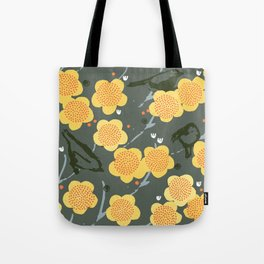 Birds & Blooms M+M Stone by Friztin Tote Bag
