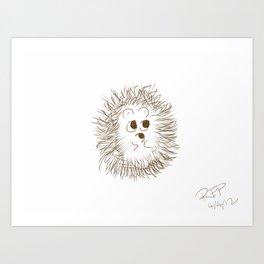Hedgehog Sketch #1 Art Print
