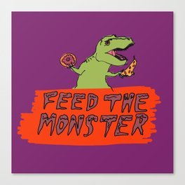 Feed The Monster (Purple) Canvas Print