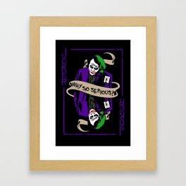 The Joker Heath Framed Art Print